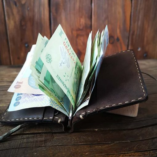 portofel clips piele semnatura